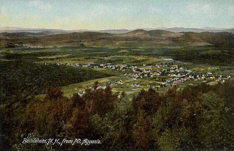 Bethlehem, NH from Mount Agassiz; from a 1909 postcard.