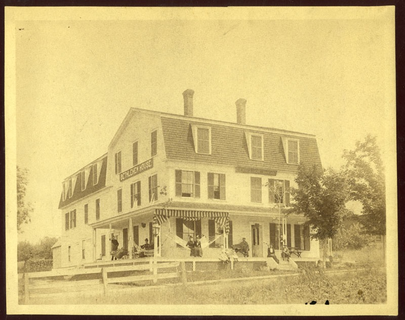 A new sign was added to the Bethlehem House in 1886; it was opened in 1874 by Willard McGregory. Courtesy of the Bethlehem Heritage Society.