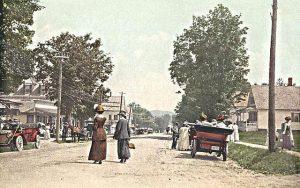 View of Main Street, Bethlehem. Post Card, Courtesy Bethlehem Heritage Society