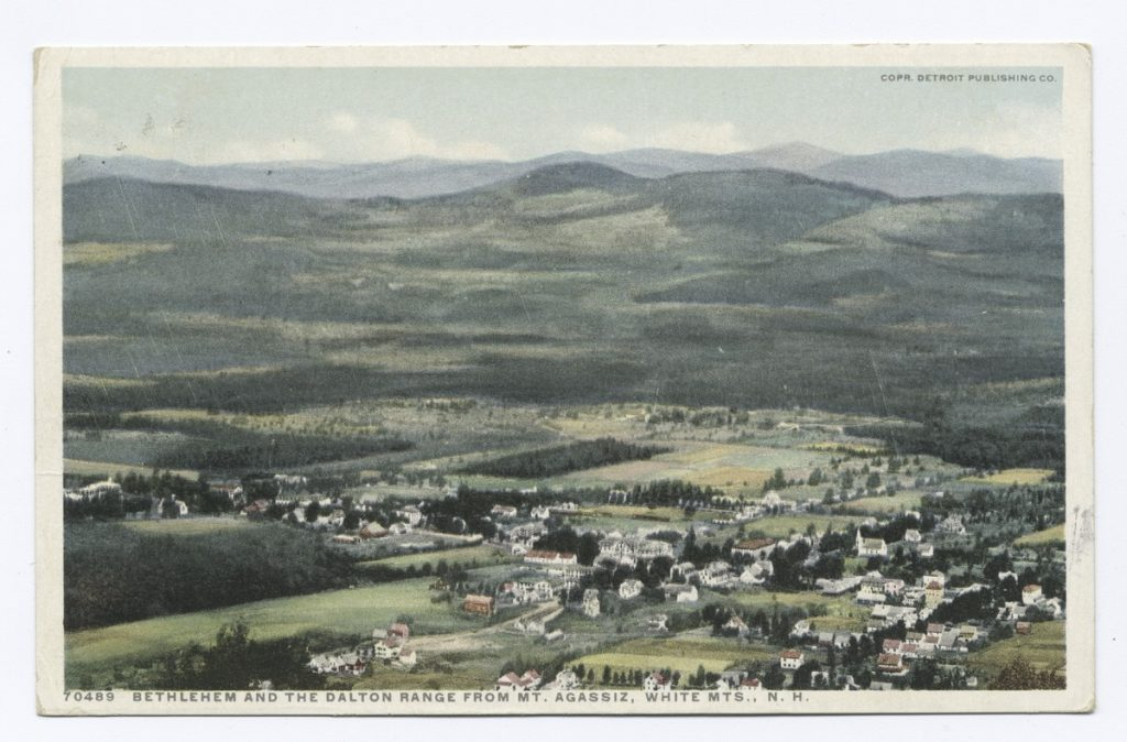 1898 Bethlehem and Dalton Range from Mt. Agassiz, White Mountains, New Hampshire