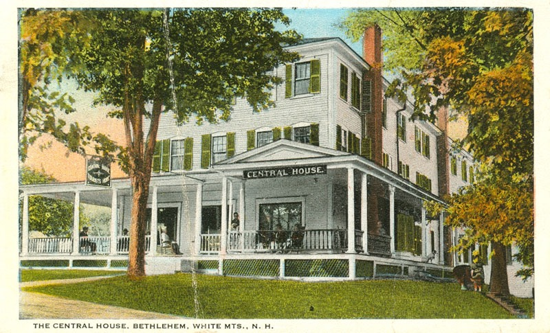 A. P. Rowe purchased the Central House on Agassiz Street, originally the Blandin House, in 1894. Courtesy of the Bethlehem Heritage Society.