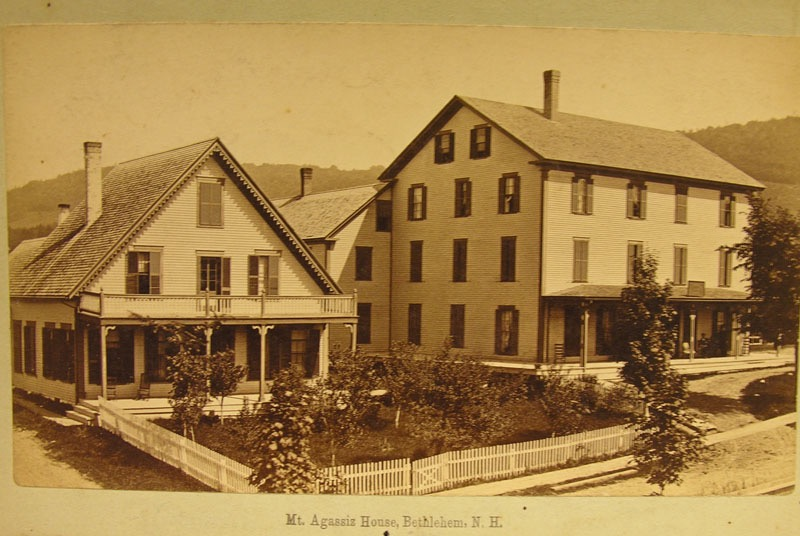 Mt. Agassiz House, seen here in a 19th-century photograph, was purchased by J. M. Mathes in 1896. Courtesy of the Bethlehem Heritage Society.