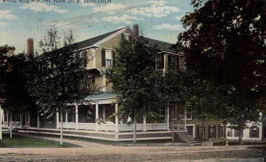 The Park View, pictured here in this postcard, was purchased by H. F. Hardy in 1897. Previously the property had been known as the Lyndenhurst and the East View. Courtesy of the Bethlehem Heritage Society.