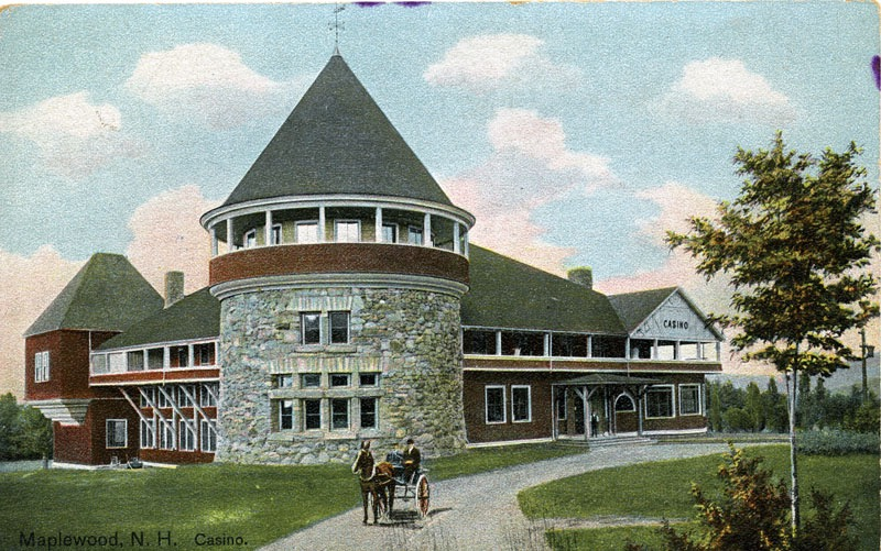 The Casino was built at the Maplewood in 1889, adding to the other buildings on the vast property. Courtesy of the Bethlehem Heritage Society.