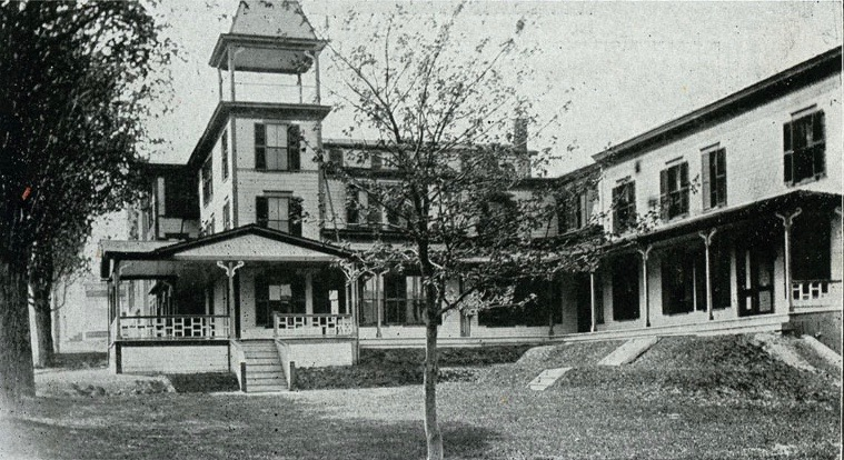 The Columbia Hotel was enlarged in 1893, pictured here. Courtesy of the Bethlehem Heritage Society.