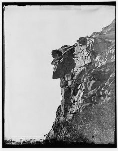 The Old Man of the Mountain, courtesy of the Library of Congress